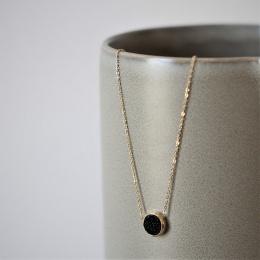 Estelle Necklace - Black Gold