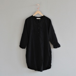 Fadia Double Cotton OS dress - Black