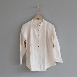 Evolet Double Cotton Blouse - Bone white
