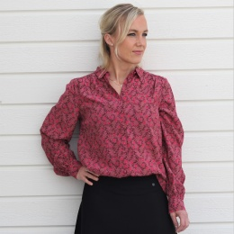 Louella Shirt - Rose Wine
