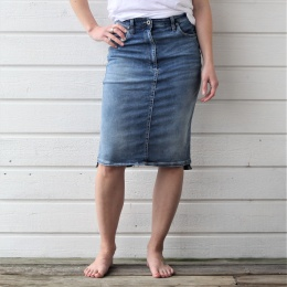 Denim Skirt London - Blue Denim