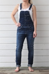 Overall Denim Hängslebyxa - Blue Denim