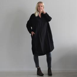 Agnita oversize dress - Caviar black