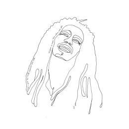 LW Print - Bob Marley