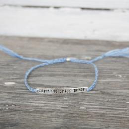Enjoy the little things - Silver/Light Blue