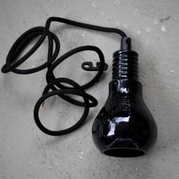 Edison lampa - Svart