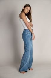 Harper Wide Jeans Organic - Light Blue