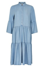 Nuanna Dress - Light Blue Denim