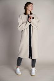 Palle Pile Coat - Cold Beige