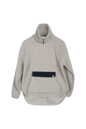 Perry Pile Anorak - Cold Beige