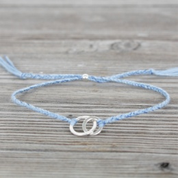 Connected - Silver/Light Blue