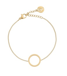 Circle Bracelet Small - Matt Gold