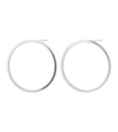 Circle Earrings - Steel