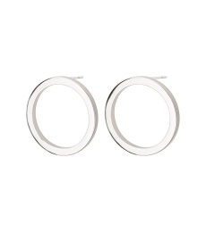 Circle Earrings Small - Steel