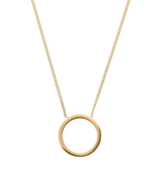 Circle Necklace Small - Gold