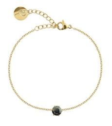 Crown Bracelet - Gold Black