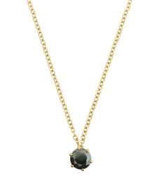 Crown Necklace - Gold Black