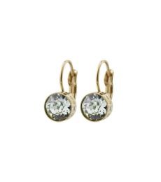 Diana Earrings - Pool Blue/Crystal Gold