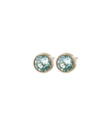 Diana Studs - Pool Blue/Crystal Gold