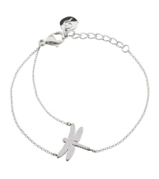 Dragonfly Bracelet Sparkle - Steel