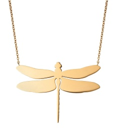 Dragonfly Necklace Large - Gold