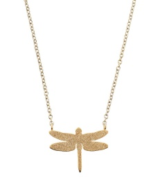 Dragonfly Necklace Sparkle - Gold
