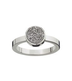 Estelle Ring - Silvery Steel