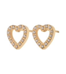 Glow Heart Studs - Gold