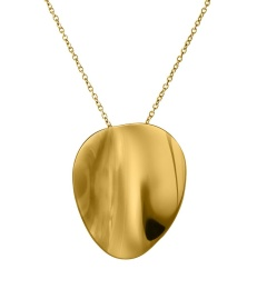Pebble Necklace Long - Gold