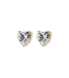 Timeless Heart Studs - Gold