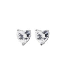 Timeless Heart Studs - Steel