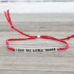 Enjoy the little things- Silver/Red