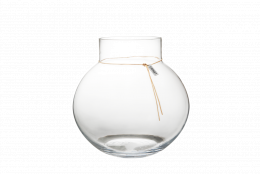 Glasvas med Läderband - Ø 30 cm