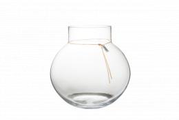 Glasvas med Läderband - Ø 38 cm