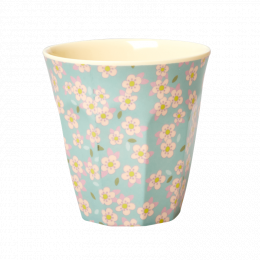 Medium Mugg - Blå Små Blommor
