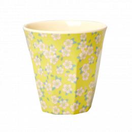 Medium Mugg - Gul Små Blommor