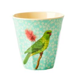 Medium Mugg - Grön Fågel