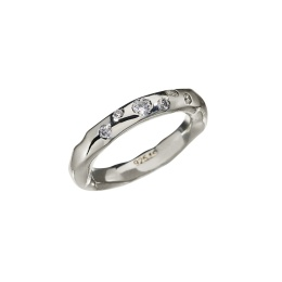 Ring Raw Sparkle Zicron - Silver