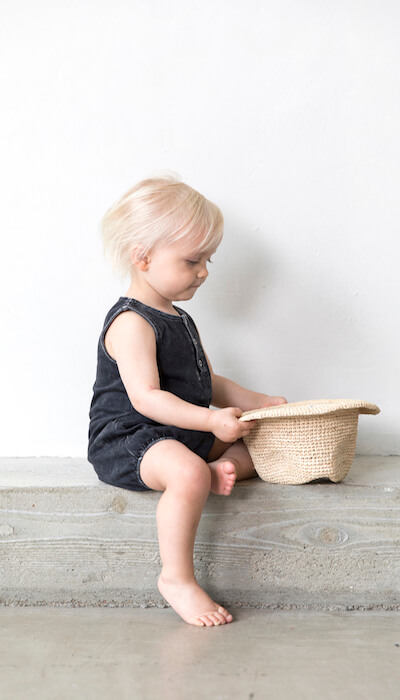 Jones Romper Organic - Black