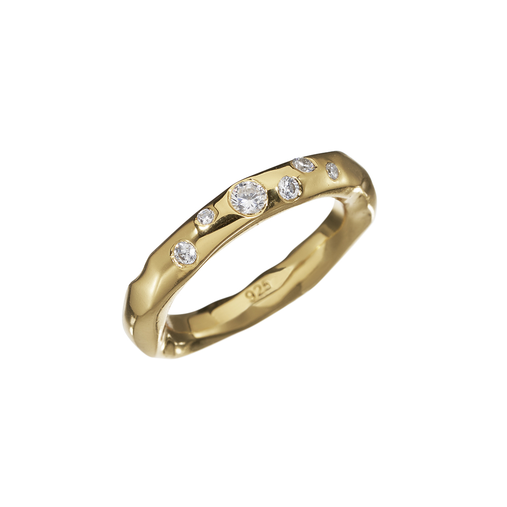 Ring Raw Sparkle Zicron - Gold