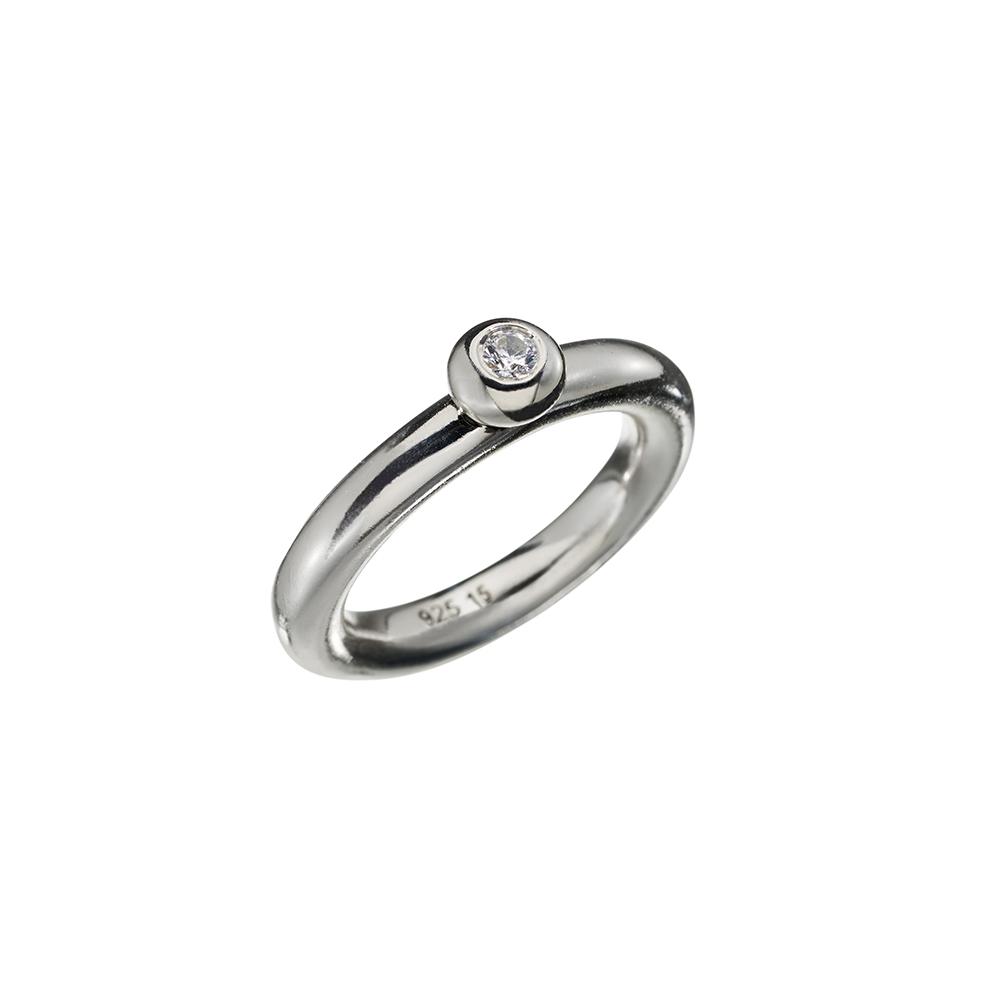 Ring Lightball Zicron - Silver