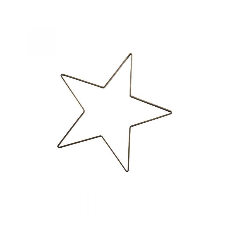 Stjärna i Järn, 50cm - Svart