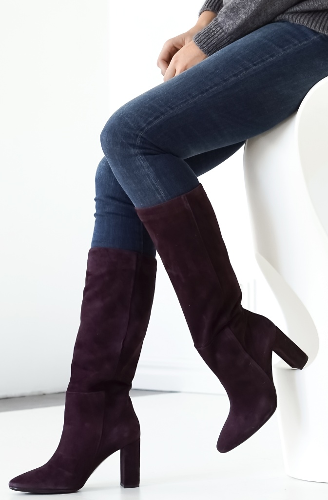 BILLI BI - Purple Suede Boot