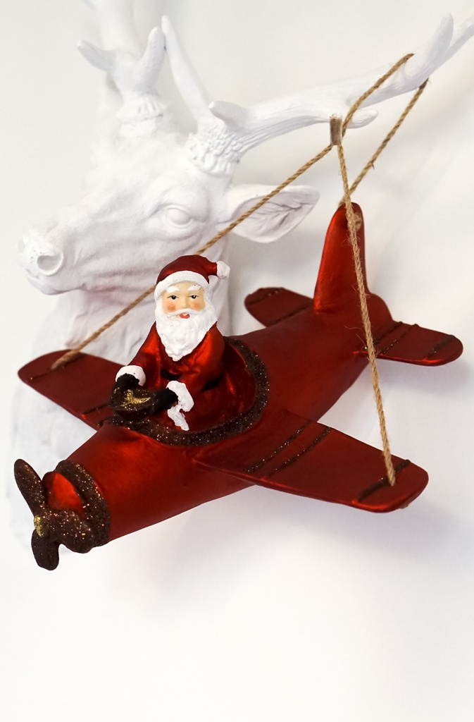 Santa in Airplane
