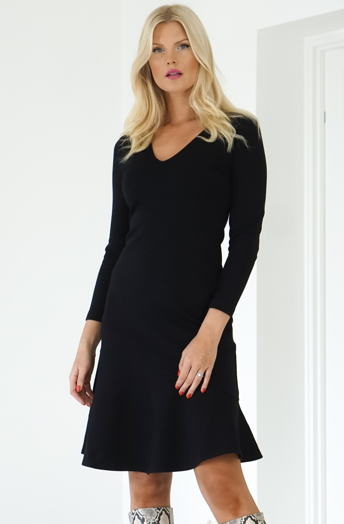 FRENCH CONNECTION - Black Dress Long Sleeves  (71MBS)