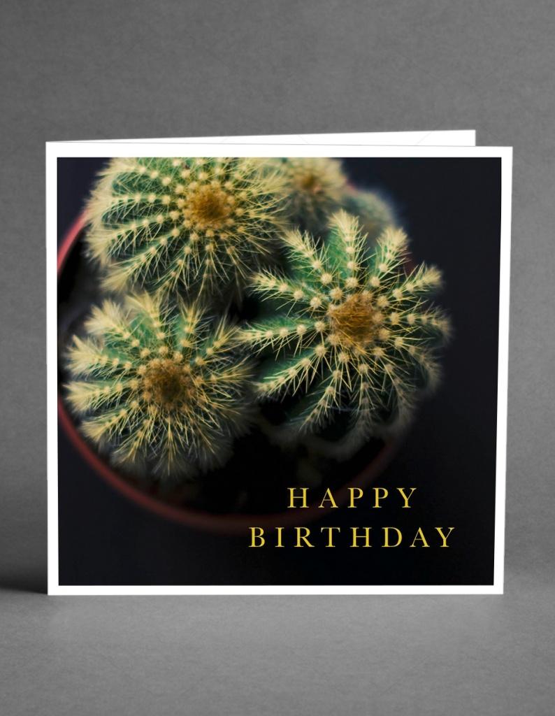 CARD STORE - Happy Birthday Cactus