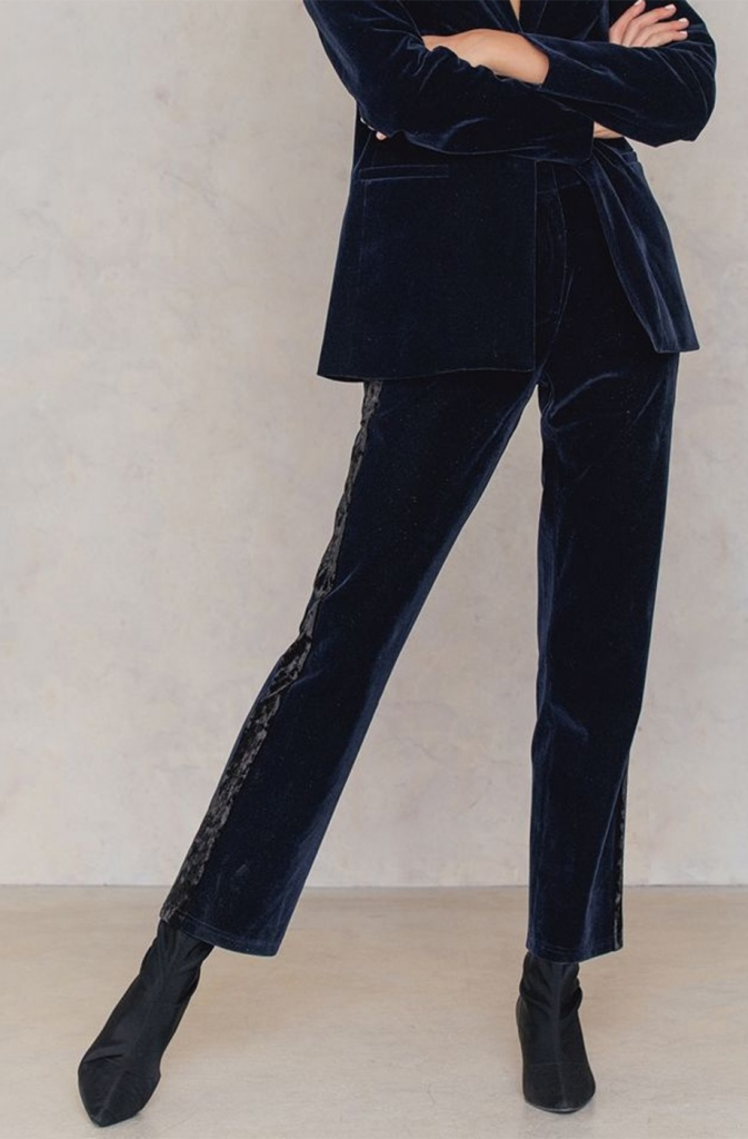 NA-KD - Velvet Striped Pants
