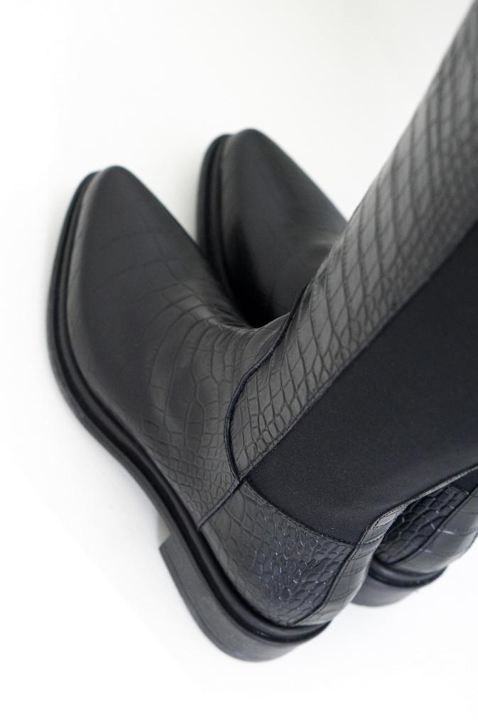 Nude Of Scandinavia - Kate Boot Black Croco - Plain Vanilla Ab-1683