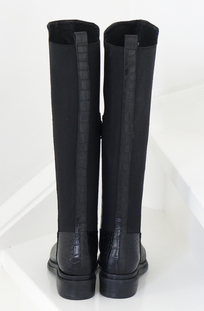 Nude Of Scandinavia - Kate Boot Black Croco - Plain Vanilla Ab-3615