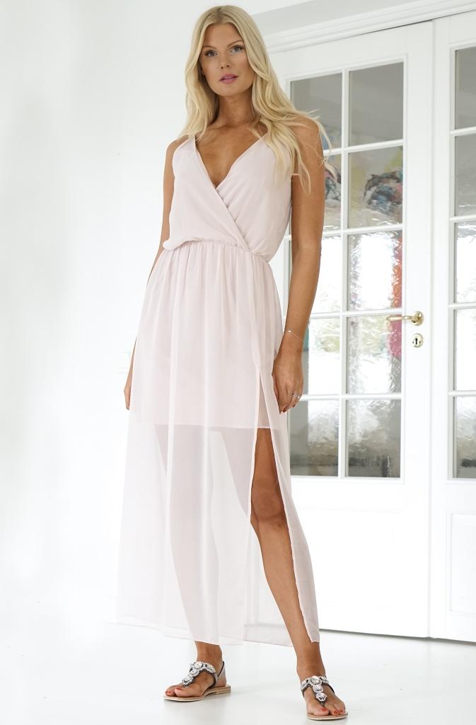 RUT & CIRCLE - Wrap Long Dress